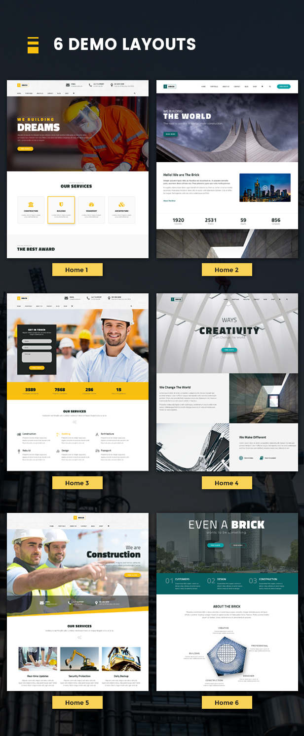 Brick - WordPress Construction, Building Business