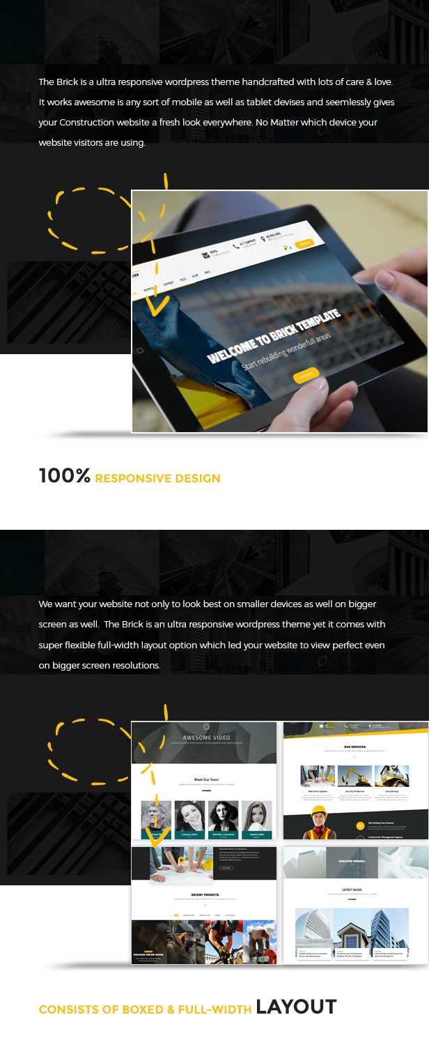 Brick - WordPress Construction, Building Business